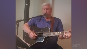 Denis Trudeau of Sudbury sings, 'Aline'