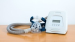 A CPAP machine is shown in an image from Shutterstock.com