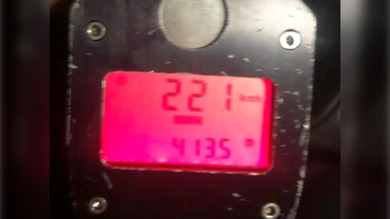 The OPP says a driver was stopped for going 122km/h on Highway 400 at Highway 9 on Tues. March 16, 2021 (Supplied)