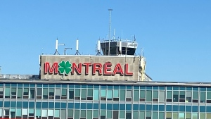 Montreal Airport is one of several sites in the city that are decked out to celebrate St. Patrick's Day. (Christine Long/CTV News)