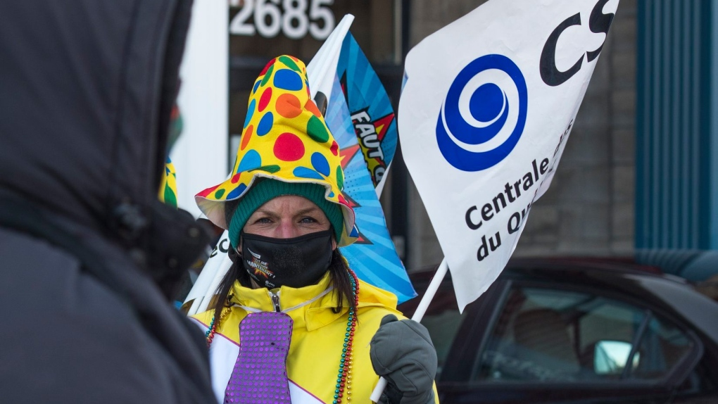 CEGEP staff protest in Quebec City