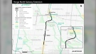 Metrolinx's preferred route for the Yonge Street subway extension is shown.