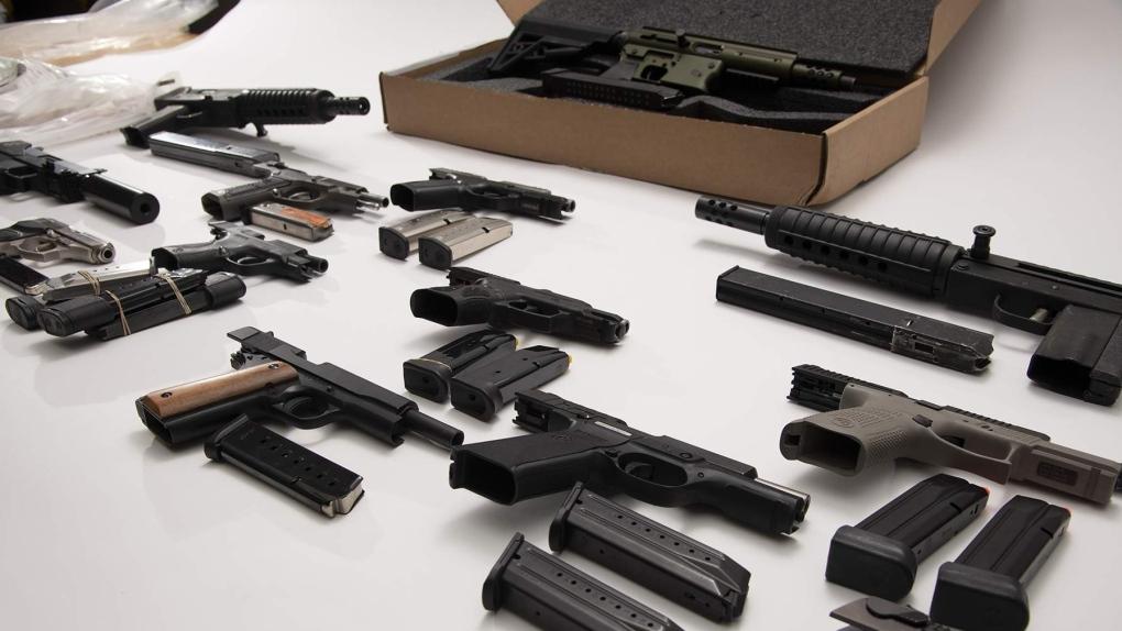 Firearms seized by OPP