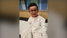Mateo Alfaro was diagnosed with a rare eye cancer (Alfaro family)