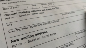The paper form to change your address with the CRA.