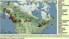 Alana Johns used this map of endangered world languages in Canada on CTV's Canada AM on Thursday, Nov. 5, 2009.