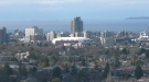 Downtown Victoria is seen from Mt. Tolmie in this file photo. (CTV)