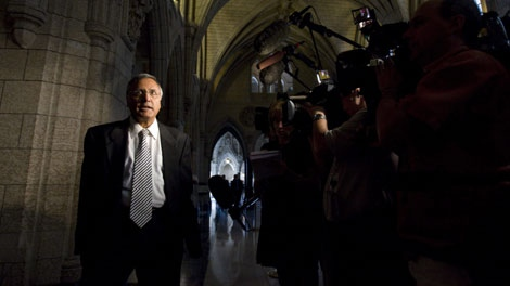 Liberal MP Ujjal Dosanjh is seen at the start of the Liberal caucus meeting on Parliament Hill in Ottawa, Ont., Wednesday Sept. 16, 2009. (THE CANADIAN PRESS/Sean Kilpatrick)