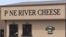 The Pine River Cheese factory, on Highway 21, has been sold, seen on Saturday March 20, 2021 (Scott Miller/CTV News)