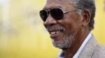 Morgan Freeman arrives at the 'Get Schooled' conference and premiere hosted by the Bill & Melinda Gates Foundation and Viacom on Tuesday Sept. 8, 2009, in Los Angeles. (AP / Matt Sayles)