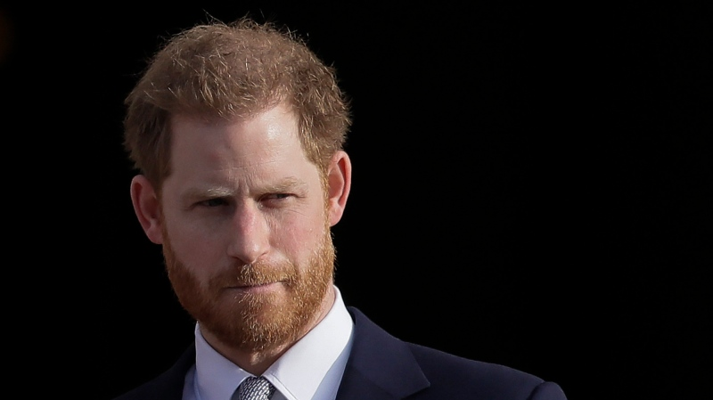 In this Jan. 16, 2020 file photo , Prince Harry arrives in the gardens of Buckingham Palace in London. (AP Photo/Kirsty Wigglesworth, File)