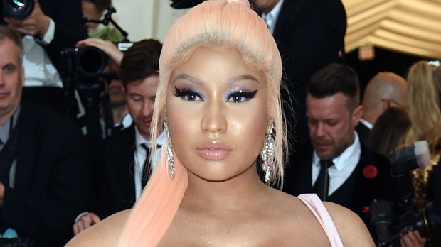 In this Monday, May 6, 2019, file photo, Nicki Minaj attends The Metropolitan Museum of Art's Costume Institute benefit gala in New York.  (Photo by Evan Agostini/Invision/AP, File)