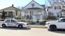 Paddington Avenue stabbing investigation in London Ont. on March 20, 2021. (Jim Knight/CTV London)