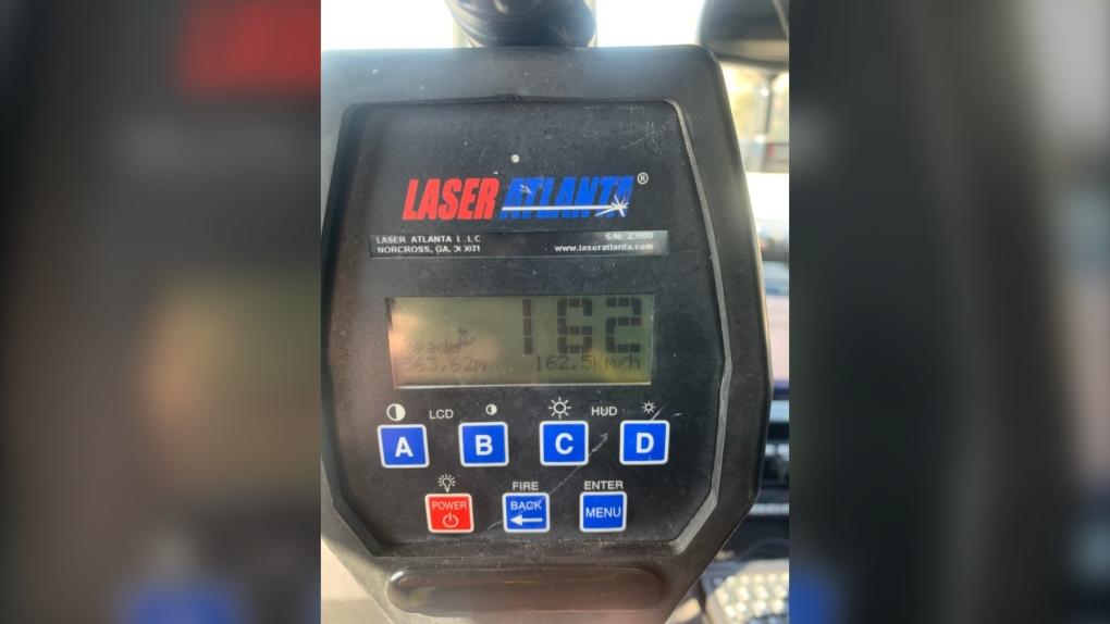 OPP radar gun clocked a driver doing 162 km/h