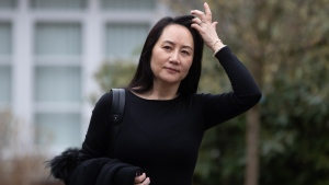 Meng Wanzhou, chief financial officer of Huawei, leaves her home to attend a hearing at B.C. Supreme Court in Vancouver on Tuesday, March 23, 2021. THE CANADIAN PRESS/Darryl Dyck