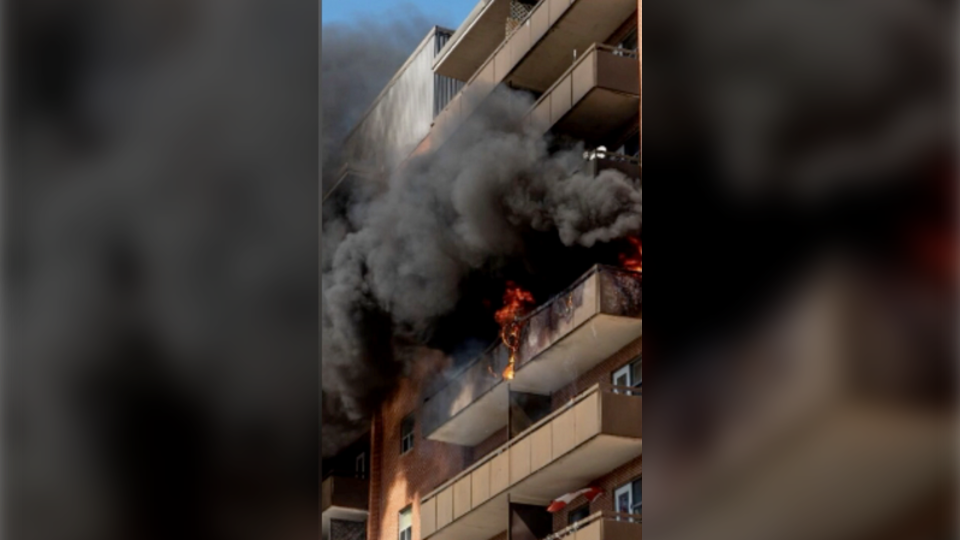 Bradford apartment fire