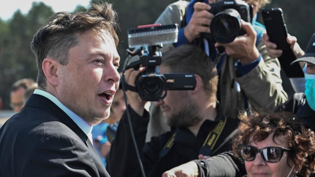 Elon Musk in Gruenheide, Germany