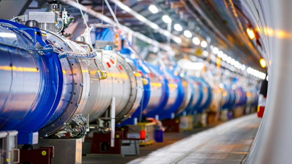 Since its inception over a decade ago, the Large Hadron Collider has sought to delve into the secrets of the universe by studying the smallest discreet particles of matter as they collide at close to light speed. (AFP)