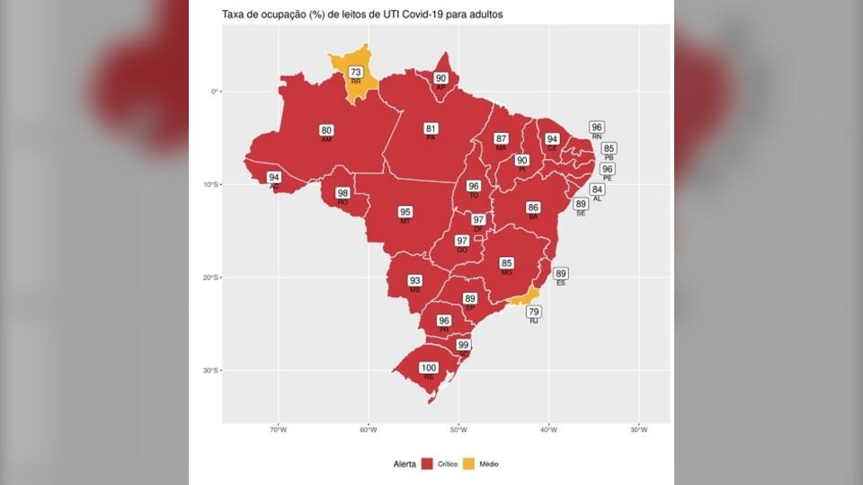 Brazil ICU map