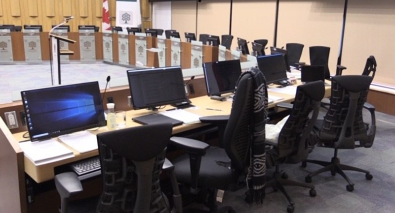 City council chambers in London, Ont. are seen in this file photo. (Daryl Newcombe / CTV News)