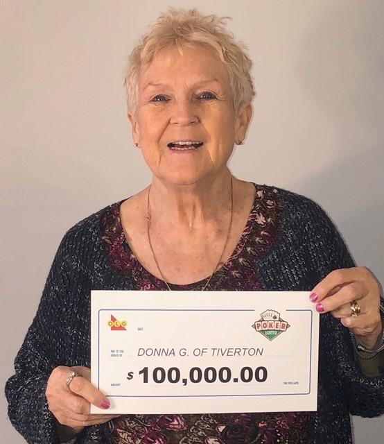 Poker Lotto winner Donna Gallant of Tiverton Ont. (OLG)