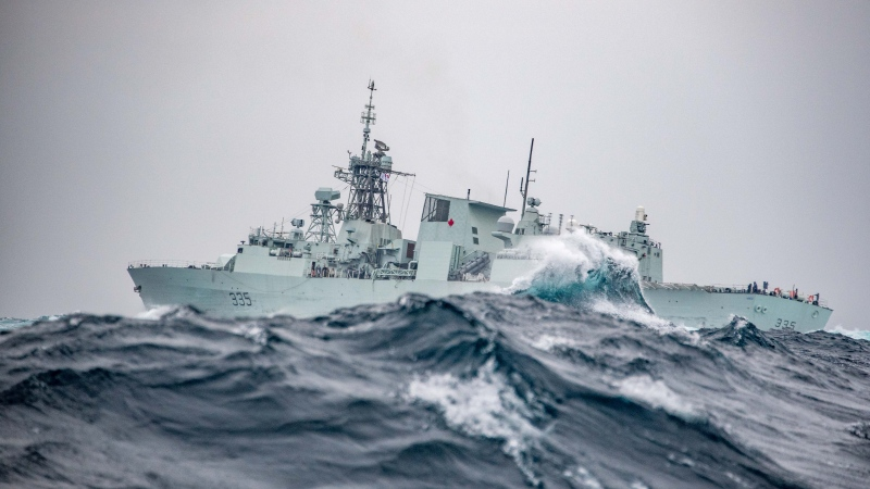 HMCS Calgary at sea in October 2018. (Canadian Forces Combat Camera)