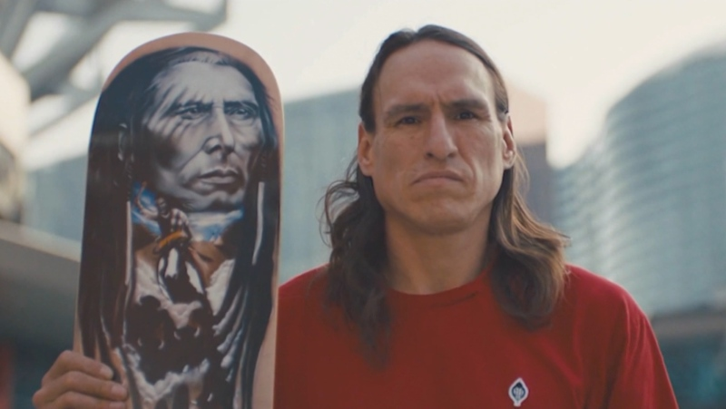 A still from the documentary Joe Buffalo which had its world premiere in February 2021.