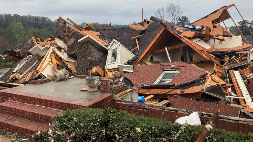 Storm damage near Birmingham, Ala.