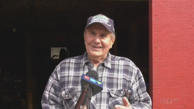 Wally Hyytiainen from Lively is Rastall Hydraulic's Community Volunteer of the Month for March 2021. (CTV Northern Ontario)
