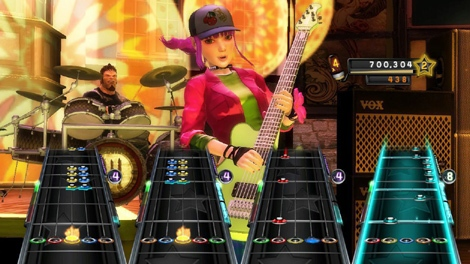 "In this video game image released by Activision, a scene is shown from the game, ""Band Hero,"" is shown. (AP Photo/Activision)"