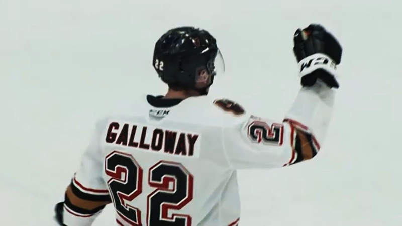 Tyson Galloway is having a breakout season for the Calgary Hitmen and he's our Athlete of the Week. Glenn Campbell reports.