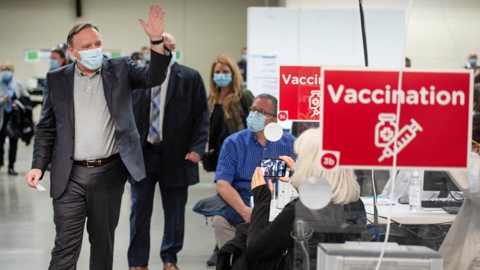 Quebec Premier Francois Legault gets his vaccine