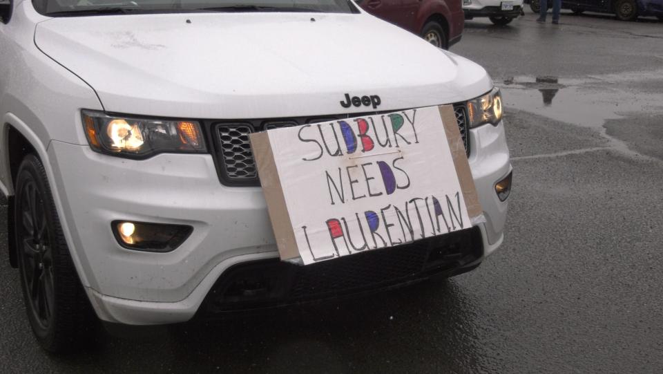 Sudbury car rally for Laurentian University