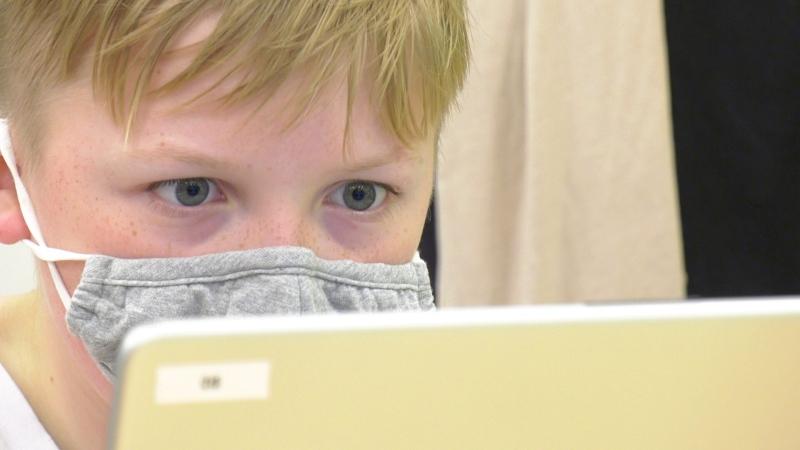 Code Ninjas coding camp in London Ont. (Marek Sutherland/CTV London)