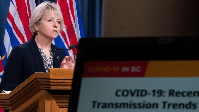Dr. Bonnie Henry gives her daily media briefing regarding Covid-19 for the province of British Columbia in Victoria, B.C, Monday, December 7, 2020. THE CANADIAN PRESS/Jonathan Hayward