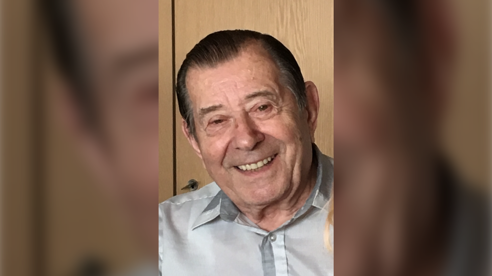 Albert Poidinger, 89, of Pointe-Claire, Que., died at the Hawkesbury hospital on Thursday. His family says he was a devoted husband of 65 years, father and grandfather. (Photo courtesy Poidinger family)