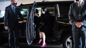 Meng Wanzhou, chief financial officer of Huawei, arrives at B.C. Supreme Court to attend her extradition hearing, in Vancouver, on Tuesday, March 30, 2021. THE CANADIAN PRESS/Darryl Dyck