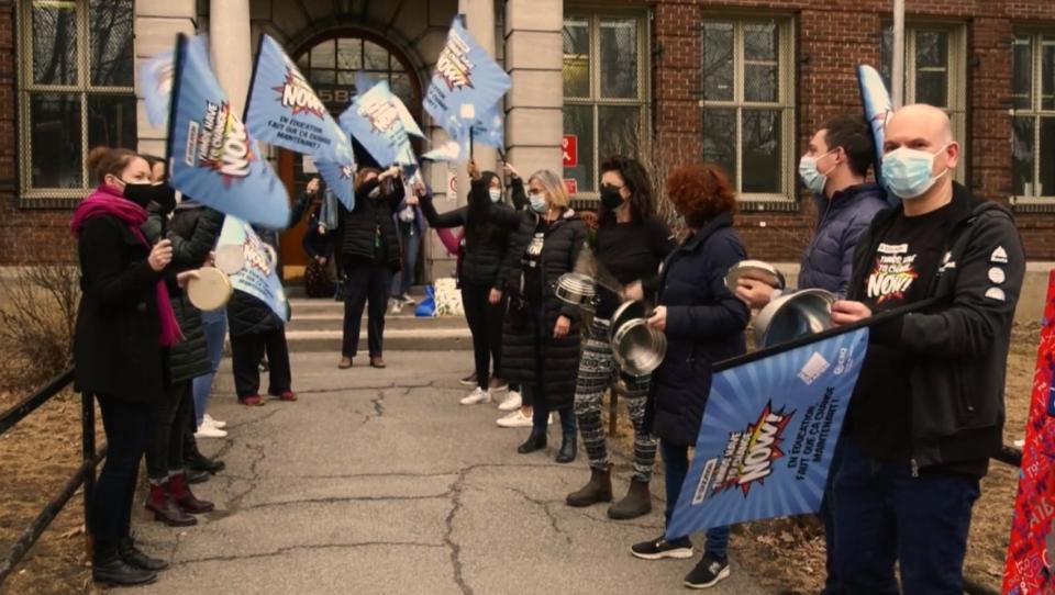 Teachers protest