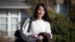 Meng Wanzhou, chief financial officer of Huawei, leaves her home to attend her extradition hearing at B.C. Supreme Court, in Vancouver, on Wednesday, March 31, 2021. (Darryl Dyck / THE CANADIAN PRESS)
