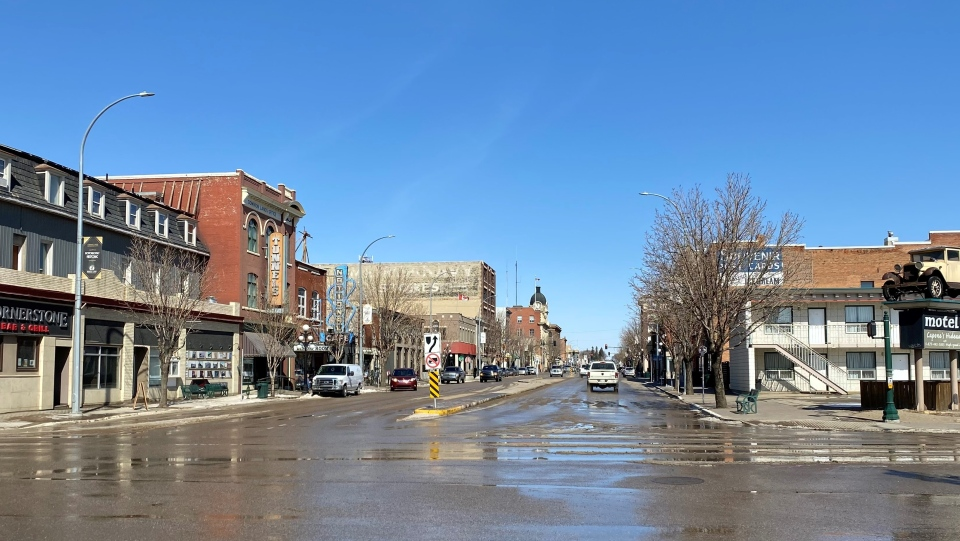 Moose Jaw's Main Street is pictured in this photo from March 2021. (Gareth Dillistone/CTV Regina)