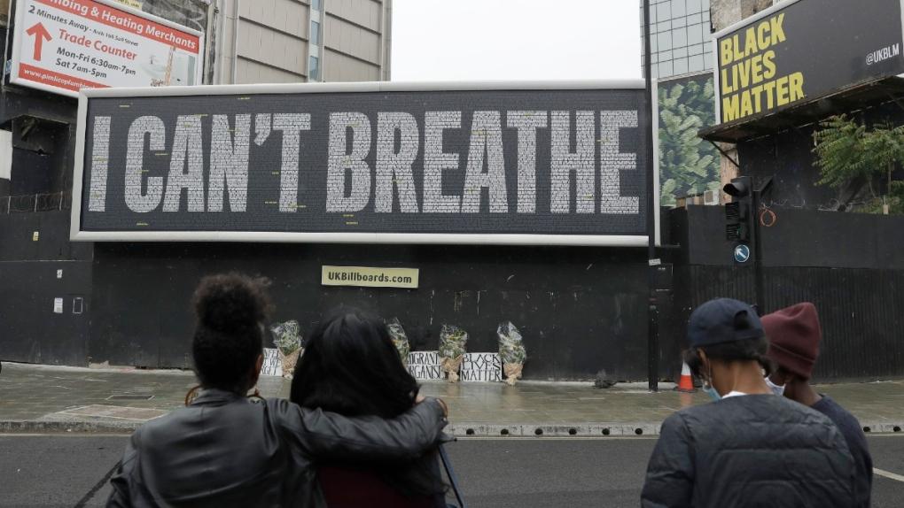 A billboard in London, U.K.