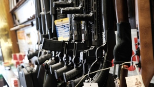 The FBI conducted a record number of background checks for firearm purchases in March, a month with several prominent mass shootings that reignited America's conversation about gun control. (Spencer Platt/Getty Images via CNN)