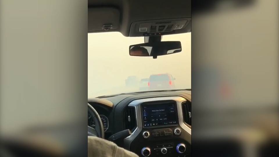 Highway 1A, crash, grass fire, Cochrane