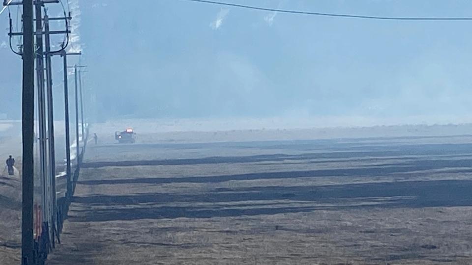 Cochrane grass fire