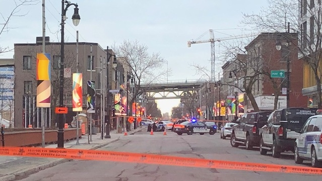 Ste. Catherine police tape, Montreal