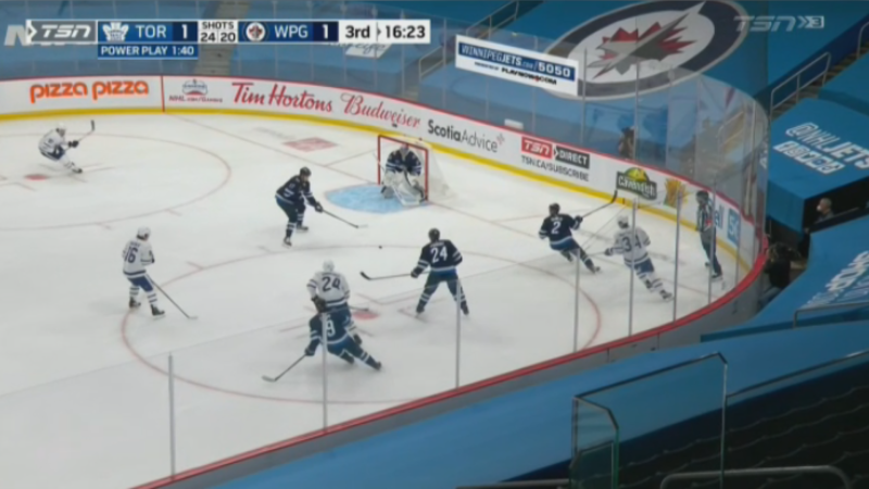 The Winnipeg Jets lost 2-1 to the Toronto Maple Leafs on Friday, April 2, 2021. (Source: TSN)