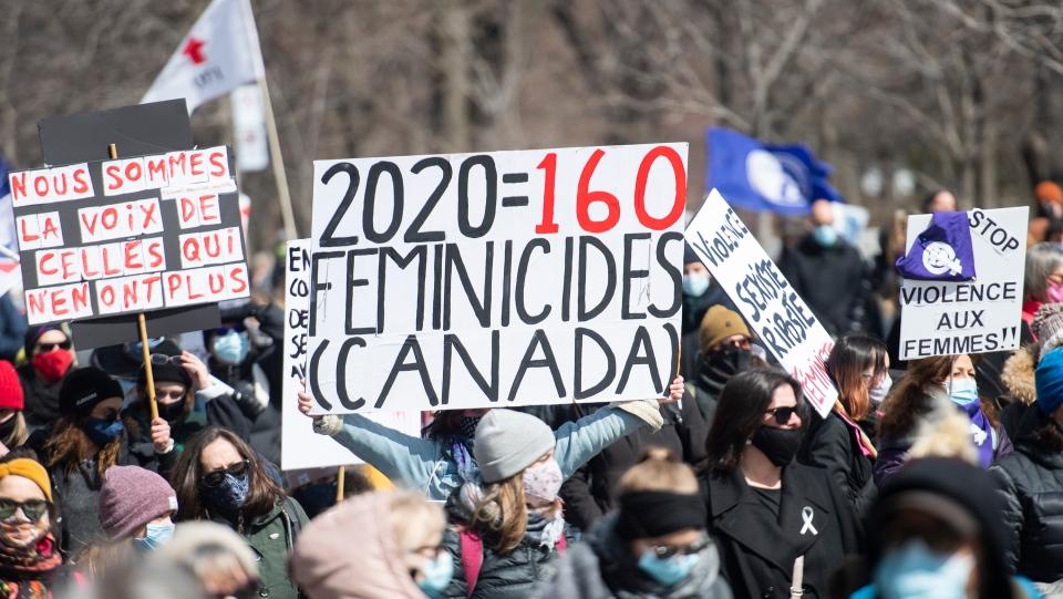 Demonstration against conjugal violence