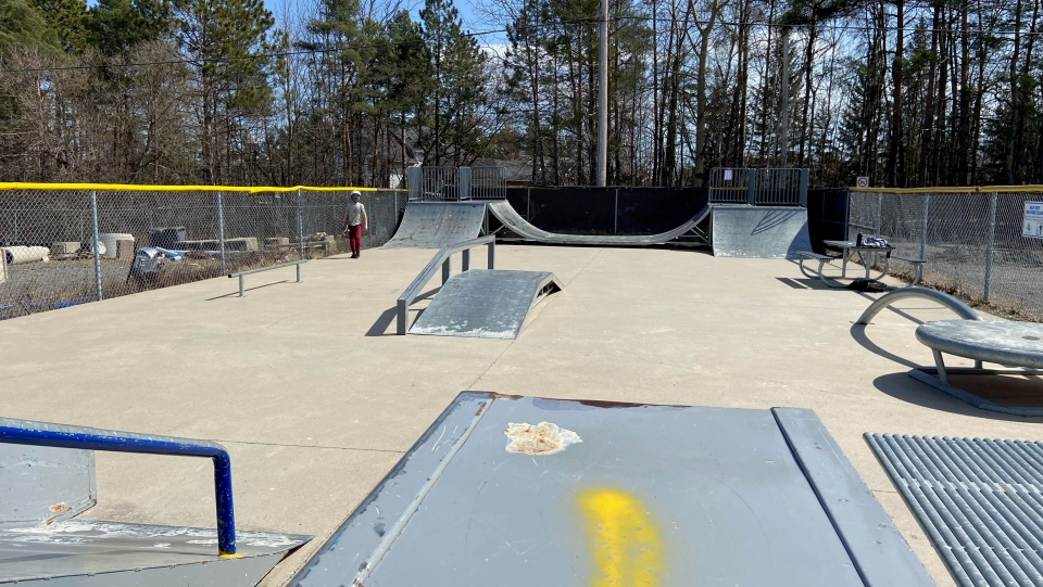 The Arnprior skate park was built around 20 years ago, the town's manager of recreation says. (Dylan Dyson / CTV News Ottawa)