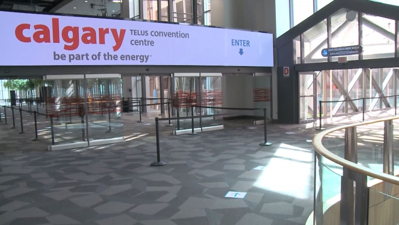 Walk-ins are now being accepted for Albertans age 40 and over for the astraZeneca vaccine at the Telus Convention Centre in downtown Calgary until April 23.  (File photo)