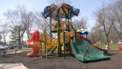 Packed playgrounds as kids enjoy the spring weather (Angelo Aversa / CTV News)